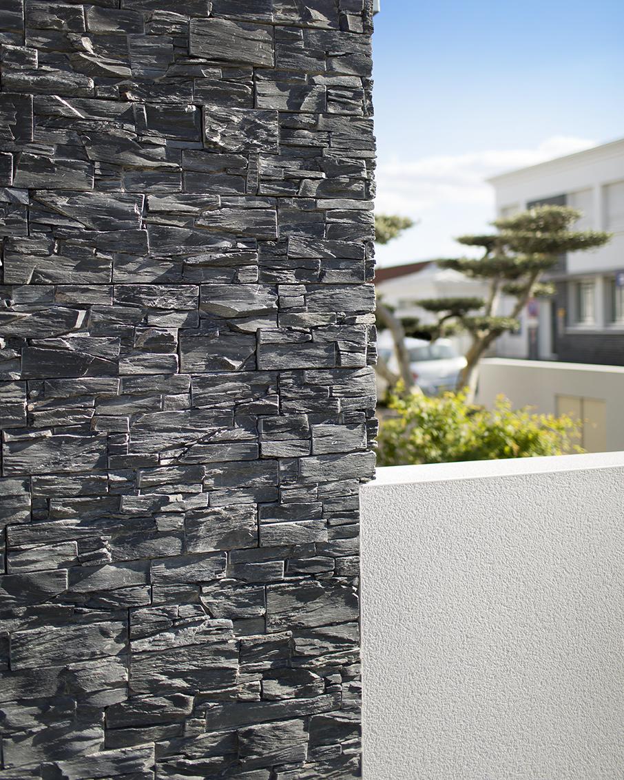 Stonepanel ardoise noire cupa stone for Pierre exterieur