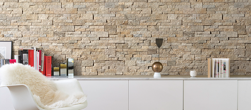 Trois styles en pierre naturelle pour une d co authentique for Decoration de mur interieur
