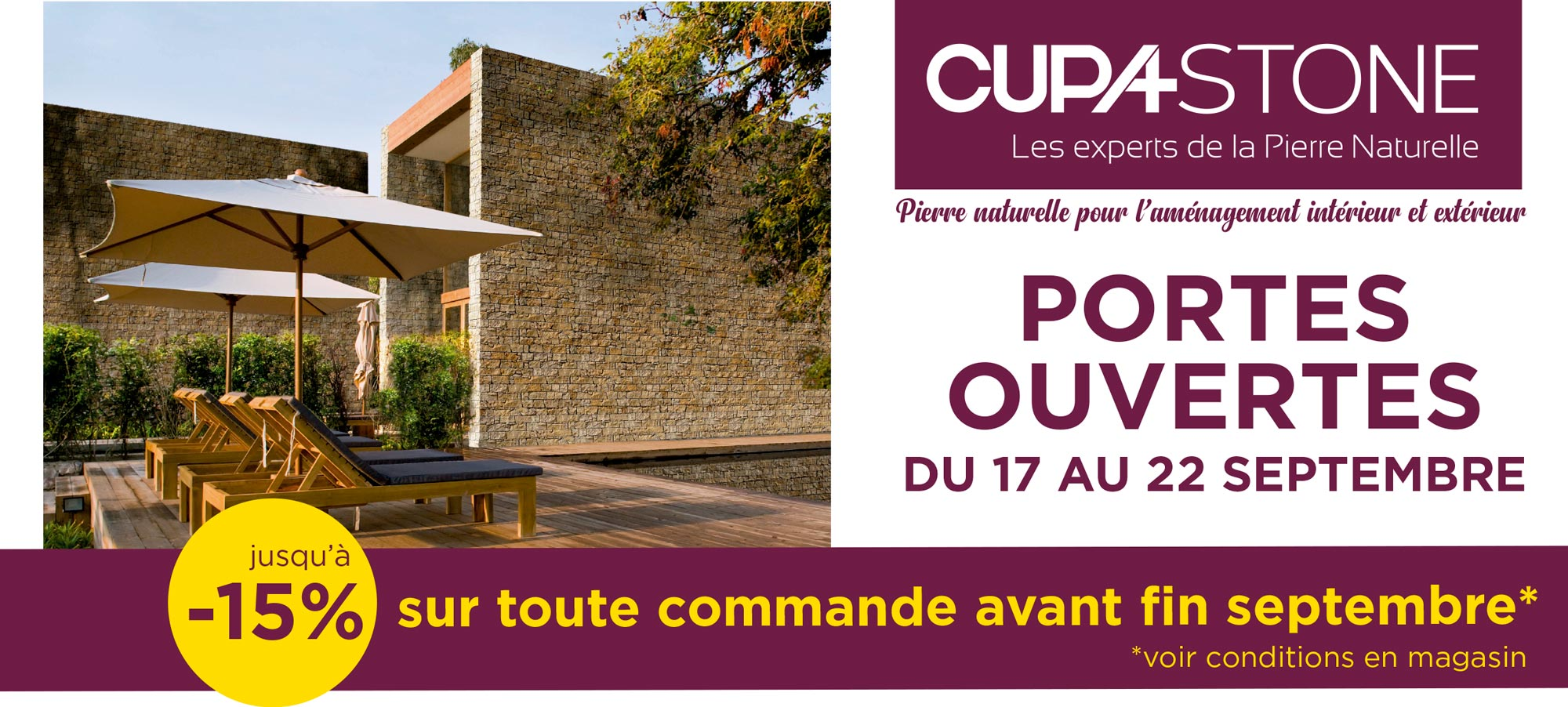 Portes ouvertes CUPA STONE France